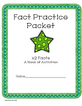 Multiplication Fact Practice x2 Packet