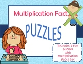 Multiplication Fact Puzzle Games