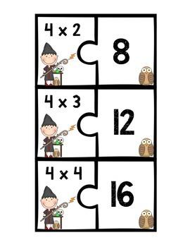 Multiplication Fact Puzzles 0-6 (2 Piece Puzzles)