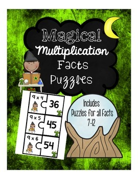 Multiplication Fact Puzzles 7-12 (2 Piece Puzzles)