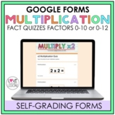 Multiplication Fact Quizzes / Google Forms / Self-Grading