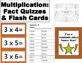Multiplication Fact Quizzes and Flash Cards