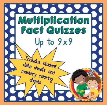 Multiplication Fact Quizzes up to 9x9