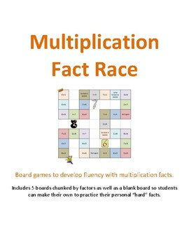 Multiplication Fact Races