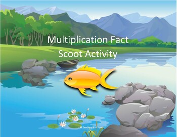 Multiplication Fact Scoot Activity/Task Cards