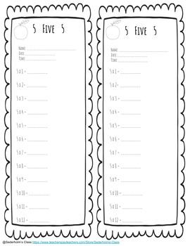 Multiplication Fact Slips + Flash Cards
