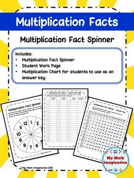 Multiplication Fact Spinner