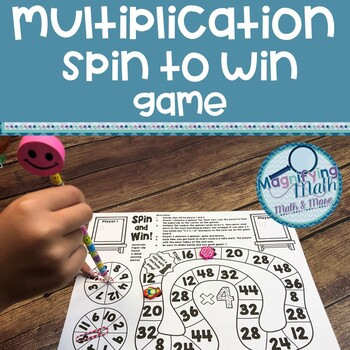 Multiplication Fact Spinner Game