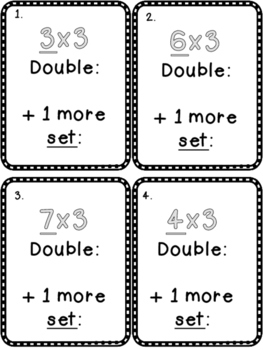 Multiplication Fact Strategies X 3 Scoot Game Double and add 1 more
