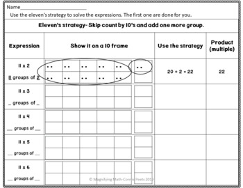 Multiplication Fact Strategy Practice Activities and Games 11s