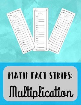 Multiplication Fact Strips