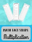 Multiplication Fact Strips