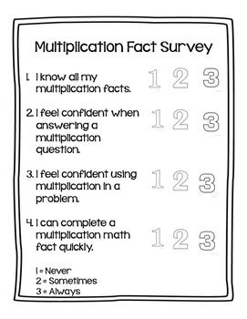 Multiplication Fact Survey