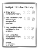 Multiplication Fact Survey