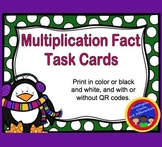 Multiplication Fact Task Cards with and without QR Codes (Common Core 3.OA.C.7)