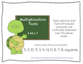 Multiplication Fact Tests that Spiral