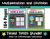 Multiplication and Division Timed Test Bundle