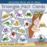 Multiplication - Fact Triangles - Fact Family Practice