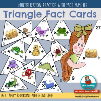 Multiplication | Fact Triangles | Fact Family Practice