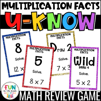 Multiplication Facts Game for Math Centers or Stations