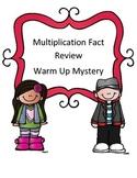 Multiplication Fact Warm Up Mystery Using Inferring Skills