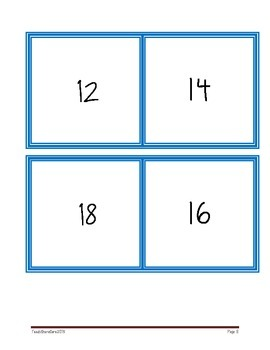 Multiplication Fact and Array Matching or Concentration Game