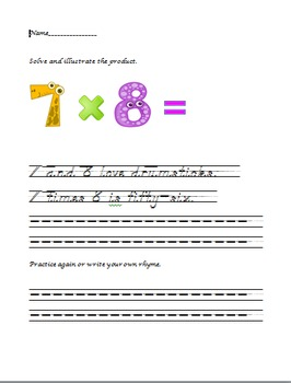 Multiplication: Fact or Fiction - Facts with Seven (manuscript)