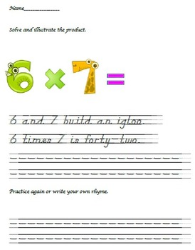Multiplication: Fact or Fiction - Facts with Six (manuscript)