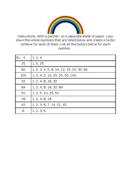 Multiplication - Factor Rainbow