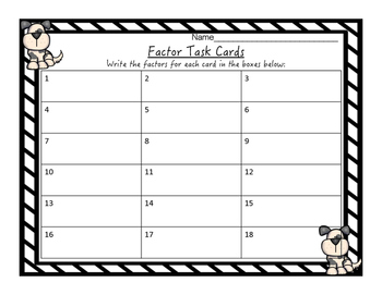 Multiplication Factor Task Cards