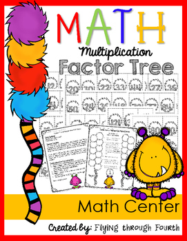 Multiplication: Factor Tree { Math Center Game} Facts:2-12