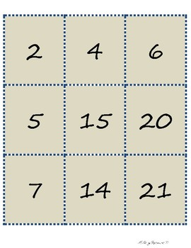 Multiplication - Factors/Multiples Spoons Game