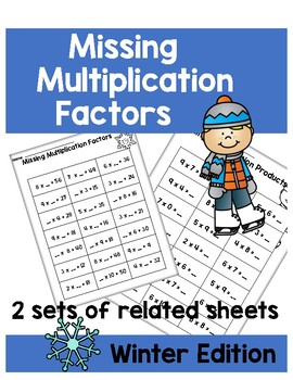 Multiplication Factors Printables - Winter Edition