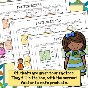 Multiplication Factors and Products - Factor Boxes