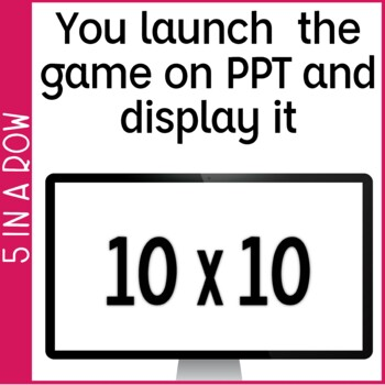 Multiplication Fact Fluency 0-10 5 in a Row: 3 No Prep Games & Powerpoints