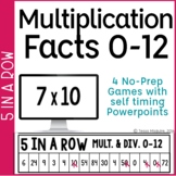 Multiplication Games: Multiplication Facts Fluency 0-10 5 in a Row
