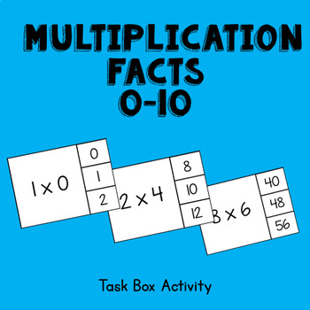 Multiplication Facts 0-10 Task Box