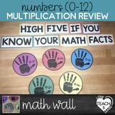 Multiplication Facts 0-12 - High-Five Math Wall