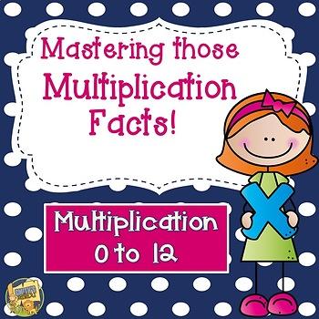 Multiplication Facts 0 - 12!  Mastering Multiplication Grades 2-5