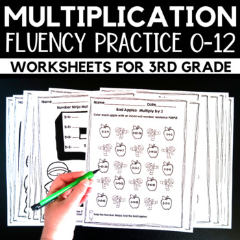 Multiplication Worksheets Facts 0-12: Differentiated