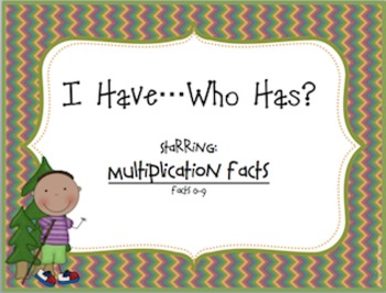 Multiplication Facts 0-9 I Have...Who Has Game!