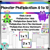 Multiplication Facts 0 To 12: Flash Cards, Worksheets, Speed Tests, Brag Tags