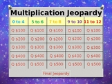 Multiplication Facts 0 to 12 Jeopardy Power Point Game