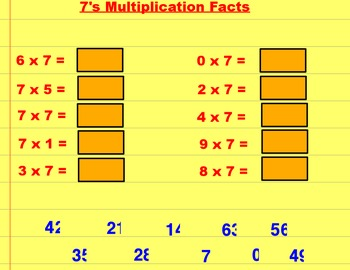 Multiplication Facts 1 - 10