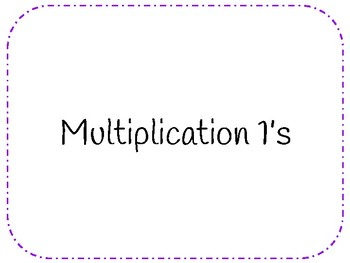 Multiplication Facts 1-12 & Flashcards