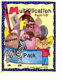 Multiplication Facts 1 - 12  Pack Tests, Games, Activities, Flash Cards.
