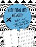 Multiplication Facts 1-12 Worksheets