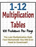 Multiplication Facts 1-12 Worksheets (Time Tests)