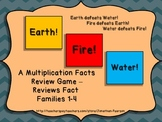 Multiplication Facts 1-4 - Earth! Water! Fire! - An Exciti