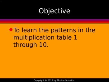 Common Core 3rd - Multiplication Facts 1 - Learning the Multiplication Facts